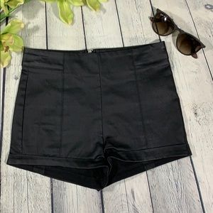 Forever 21 leather looking shorts